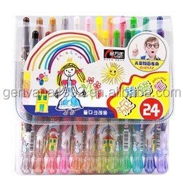 24 colors rotatable crayon G-0172