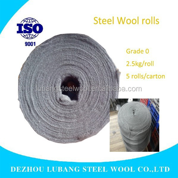 1kg,2.5kg,5kg,20kg per roll Polishing Steel Wool Pads /big package for stone, furniture from factory