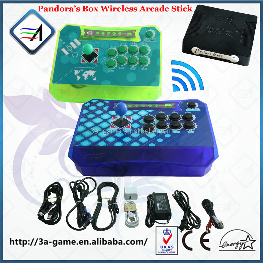 2017 New Product Pandora's Box Wireless Arcade Stick Support PC PS3 XBOX360 Game Arcade Joystick Fighting Game Stick Controller