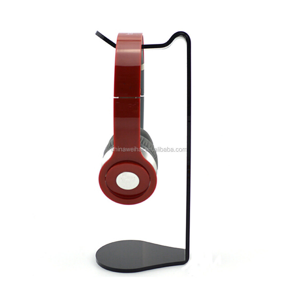 Black Acrylic Earphone Headset Hanger Holder Headphone Stand Holder Desk Display