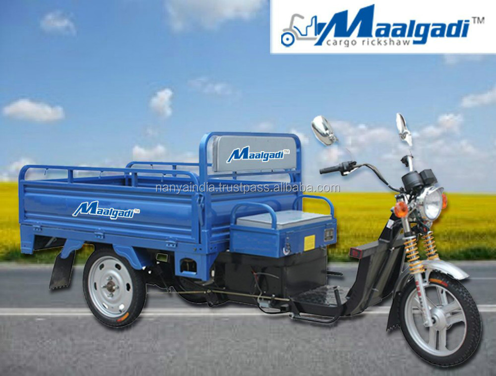 adult electric tricycle with cargo tank