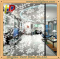 High Quality Acid Etched Glass/Decorative glass for wall decoration and Construction
