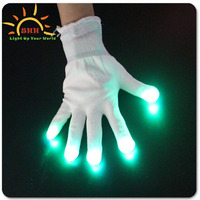 LED Rave Flashing Gloves Shinning Gloves Glow Light Up Finger Lighting Black