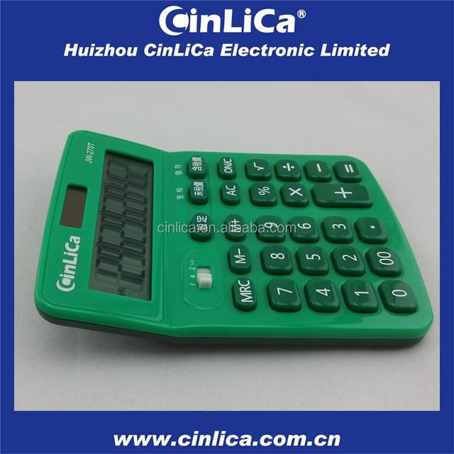 mini desk calculator tax with ball pen