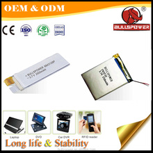 Polymer lithium rechargeable 3.7v 170mah li ion battery