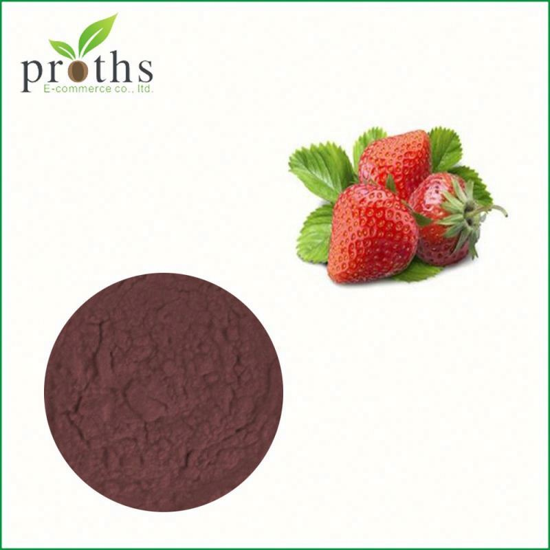100% nature and organic strawberry powder food grade