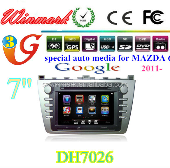 DH7026 car dvd player for Mazda 6 with gps radio bluetooth ipod cd navigation 3g function etc