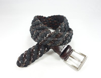 Modern wax rope man genuine braided leather belts