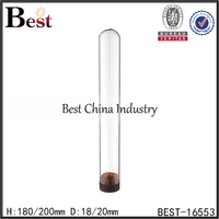 18mm 20mm clear glass test tube with plastic cork