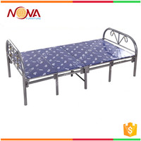 Wholesale cheap bedroom used modern single metal tube fancy folding bed design