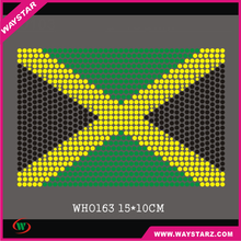 Jamaica Flag Designs High Quality Rhinestones For Clothing