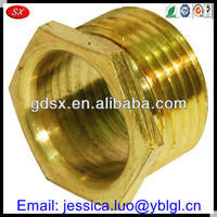 ISO9001:2008 passed brass/bronze/copper high precision bushing connector,copper ferrules connectors,brass connector bolt hex