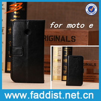 China Alibaba Top Sale leather case for motorola moto e