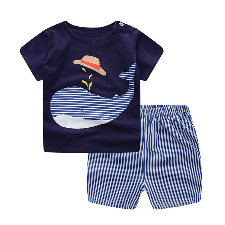 S63160B Baby Boys Summer Clothing Sets Clothes Toddler Children 2pcs T-shirt Shorts