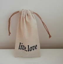 Custom cotton canvas recyclable eco-friendly original gift drawstring bag