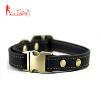 Leather Dog Collar- Handmade For Medium Dog Breeds With The Finest Leather-Best Quality Collar That Is Stylish ,Soft Strong