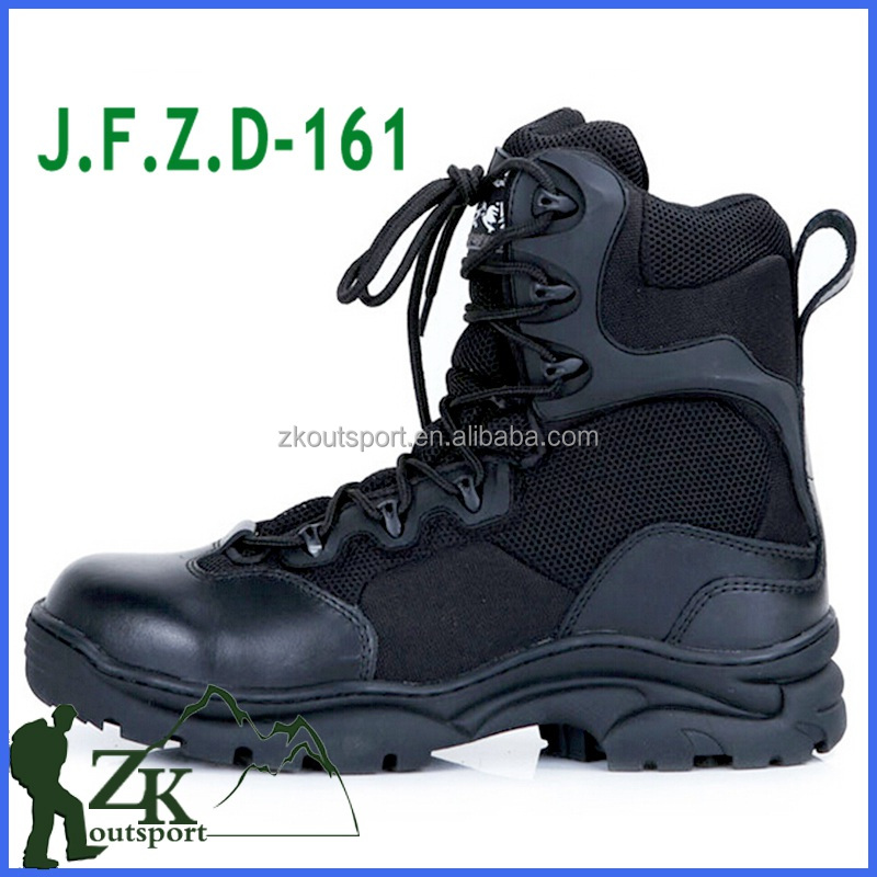 Factory wholesale self-brand high top zipper boots military tactical combat boots for men shoes cheap winter boot