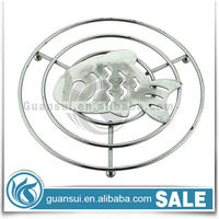 Fish round metal trivet,hot plate