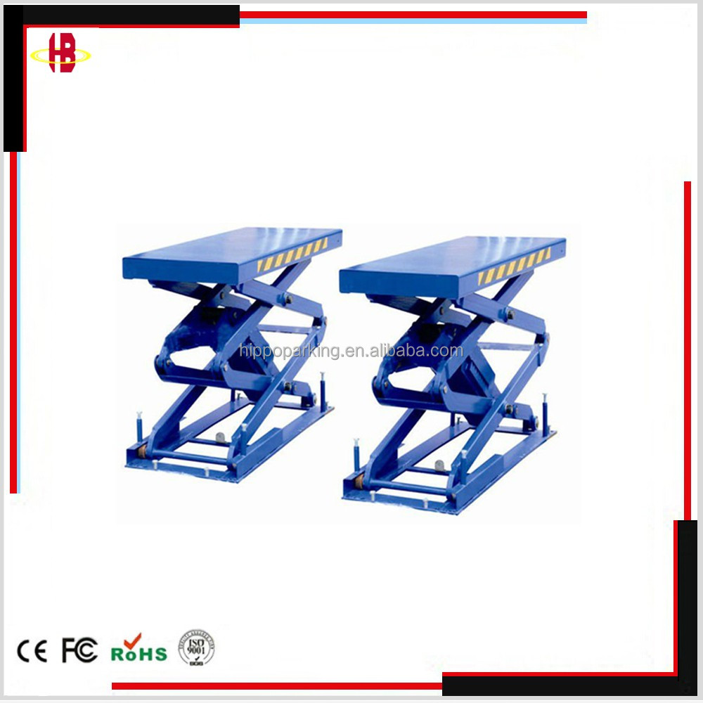 3.5T 2100mm scissor underground garage lift