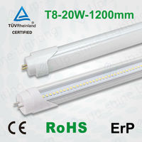 T8 led daylight lamp 4 feet t8 led tube 1200mm 20w, t8 led tube 1200mm with CE TUV certification
