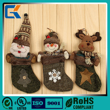 Good quality using indoor luxury christmas stocking decoration