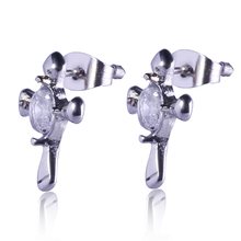 Wholesale 316l stainless steel cross earring stud earrings in bulk