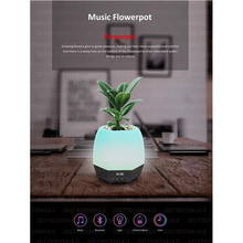 2017 Newlook portable sound system Flowerpot Bluetooth Speaker With LED Light and Clock