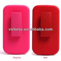 For Samsung Galaxy S III 3 S3 4G Pink Holster Belt Clip Combo Hard Case Phone Cover
