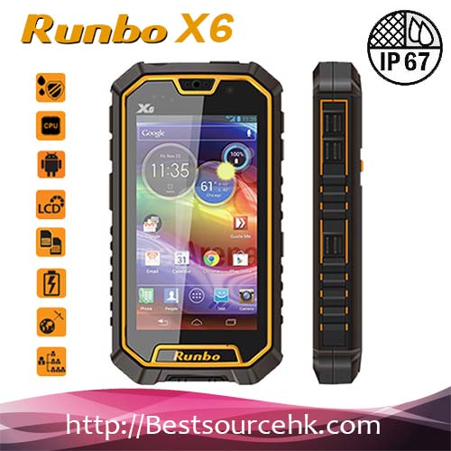 5 Inch Android 4.2 Smart Runbo X6 for Rugged Cheap GPS WIFI 3G Big Touch Screen Quad Core 2G Ram Handphone