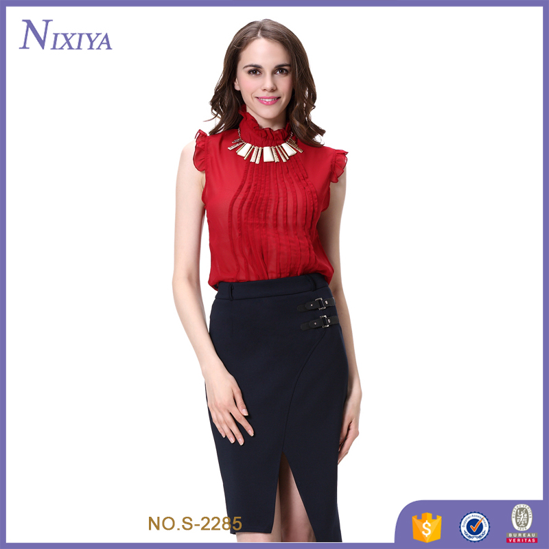 Sexy office lady uniform designs for women pants and blouse