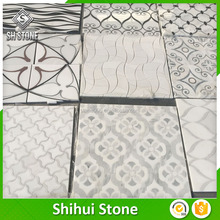 Best quality price polished flower marble mosaic tile