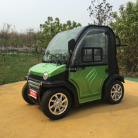 enclosed 4 wheeler electric power vehicle/2 passenger seat battery operated car/luxury mini car with steering wheel
