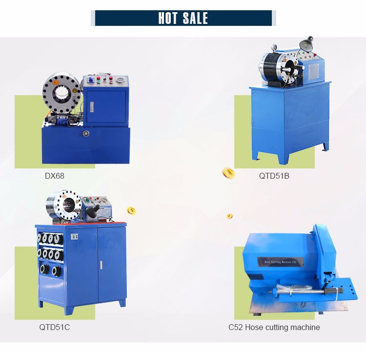 Fast delivery 2' flexible spiral automatic hydraulic QTD51C hose crimp machine