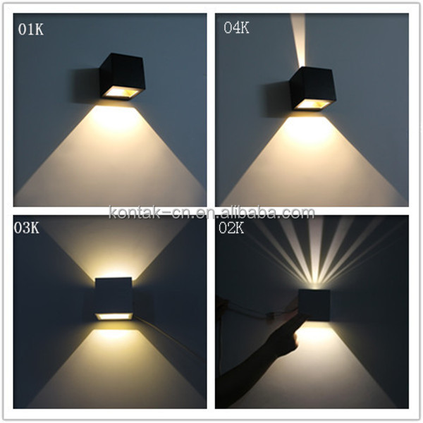 Modern design ip54 indoor decoration 6w up and down led wall lam lighting 3 years guaranty