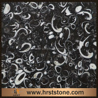 china Black Fossil seashell marble slab