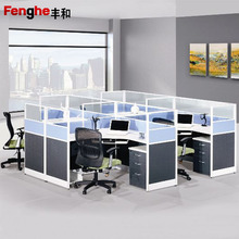commercial office cubicles folding screen wooden partition