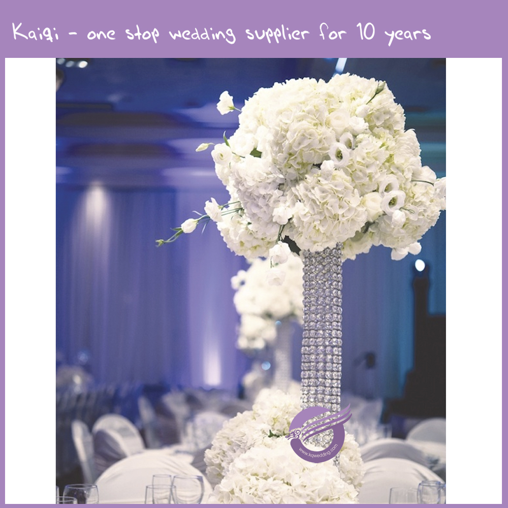 K9472 Wedding decoration crystal beaded table centerpieces flower stand