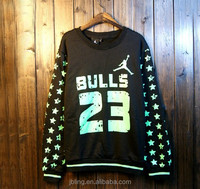 Japan and South Korea style Slim sweater male printing