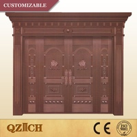 new design oversize copper aluminum entry door