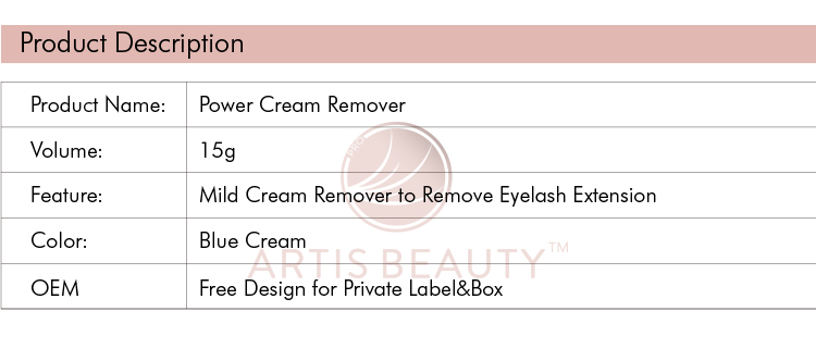 Private Label Wimper Extension Power Crème Remover voor Lash Extension Professionele
