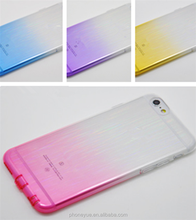 fashion ultra-thin gradual change color protective clear soft tpu case for iphone