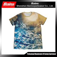 All over sublimation printing t-shirt&custom design t shirt sublimation