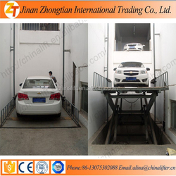 Small car elevator customized scissor lift platform lift used car price used for home