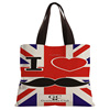 UK Malaysia Personalized Natural Cheap Wholesale Black Tote Bag Cotton Canvas