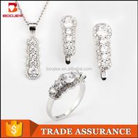 Wholesale semi precious stone jewellery white gold ladies sets Russian fashion costume jewelry sets