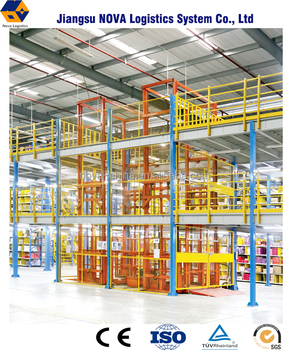 Warehouse multi tier structural steel modular mezzanines rack