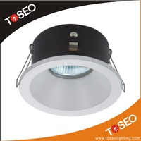 IP65 bathroom mr16 gu10 downlight cover round anti glare light housing