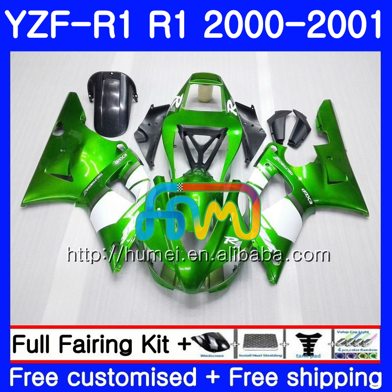 Body For YAMAHA YZF R 1 YZF 1000 YZF-<strong>R1</strong> <strong>00</strong>-<strong>01</strong> Bodywork green black 98HM13 YZF1000 YZF-1000 YZF <strong>R1</strong> <strong>00</strong> <strong>01</strong> YZFR1 2000 2001 Fairing