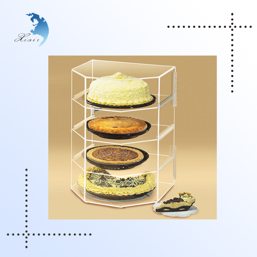 Non-toxic Anti-dust 4 Shelf Clear Acrylic Vertical Fruits Cake Display Stand