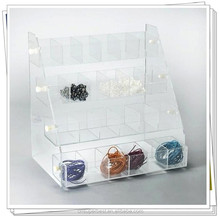 countertop acrylic beads gems display,compartment display case